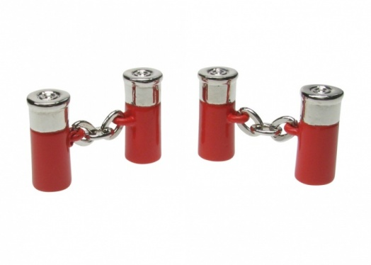 Double Red Shotgun Cartridge Cufflinks